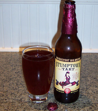 Bottle and fresh glass of Bridgeport Brewing Stumptown Tart